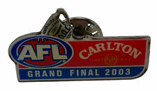 AFL Grand Final 2003 Carlton And United Breweries Red Blue pin badge