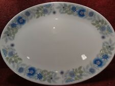 """WEDGWOOD """" CLEMENTINE """" Blue Floral 14"""" OVAL MEAT PLATTER - FREE UK POST"""