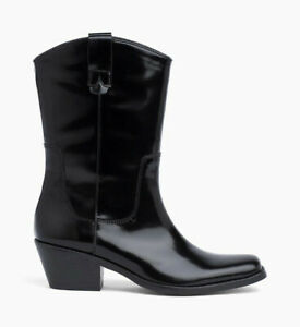 Calvin Klein Jeans Womens Wade R8790 Boots BLK Black US 7