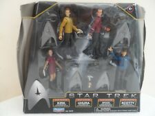 Star Trek Galaxy Collection Kirk Uhura Spock Scotty figures Comme neuf IN THE BOX 2009