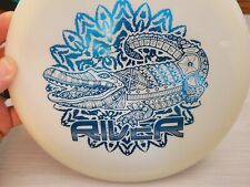 Latitude 64 Opto River White with Croc Stamp Blue Foil - 173 g - Fairway driver