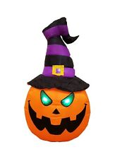 Halloween Inflatable Yard Party Air Blown Blowup Decoration Pumpkin w/ Witch Hat