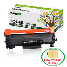 [2019 New] Kingjet with CHIP Compatible Toner Cartridge Replacement for TN760