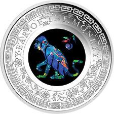 1 Oz Unze Proof Silber PP Opal Lunar Affe Monkey Australien 2016