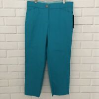 Counterparts Slimming Sensations Women's Stretch Capris Pants Size 6 Bright Blue
