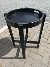 Pacific Lifestyle / Elizabeth White/ Black Pine Rustic Wood Round Folding Table