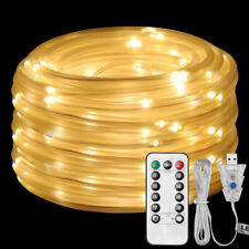 LE 10m 100 LEDs Rope Light,USB Power Warm White Dimmable Fairy Light Decoration