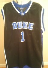 Duke Blue Devils NCAA Champs Black & Blue Duke #1 2XL Basketball Jersey