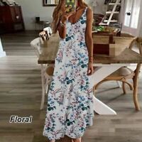 Summer Floral Long Sleeve Maxi Cocktail Party Casual Dresses Long Fashion Womens