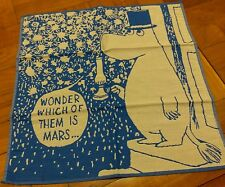 MOOMIN VALLEY Moomin Papa Cotton Handkerchief  Blue