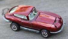 Rare Vintage Johnny Lightning Topper Custom IKE Jaguar Red Diecast Car US USA