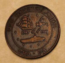 USS Constellation CVA-64 Commissioned 27 Oct 1961 NY Naval Shipyard Navy Medal