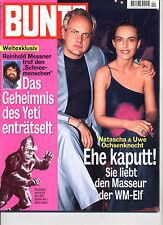 Kult-Zeitschrift BUNTE Nr. 40 von 1998, Uwe Ochsenknecht, Reinhold Messner Yeti