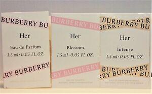 Burberry Her EDP, Burberry Her Intense, Burberry Her Blossom Sample Vial Set