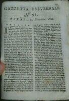1802 GAZZETTA UNIVERSALE: NAPOLEONE; GENERALE DESSAIX; GUADALUPA; GERMANIA; ....