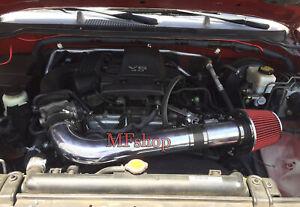 Black Red For 2005-2014 Nissan Frontier Xterra 4.0L V6 Air Intake Kit + Filter