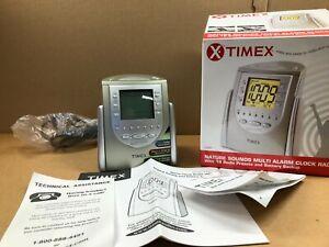 Timex Alarm Clock Radio T309T Nature Sounds AM/FM 18 Radio Presets