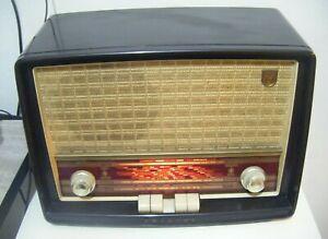 Vintage c1950s PHILIPS  MK 40043 Valve Radio ~ Working