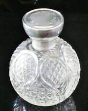 GRANDE Argento E Tagliare Il Vetro Profumo Bottiglia Profumo, Birmingham 1915, synyer & beddoes
