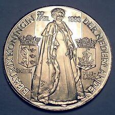 NETHERLANDS QUEEN BEATRIX 20 April 1993 SNEEK-VLIELAND BU Medal 38mm 19g