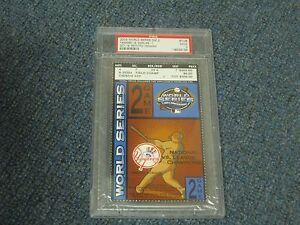 2003 World Series Game 2 Ticket Stub Yankees vs Marlins PSA Encapsulated