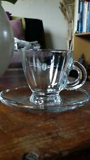 Glass espresso cup and saucer