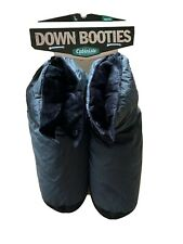 CABINISTE - GRAY FLEECE LINED DOWN BOOTIES - MEN'S L - NWT