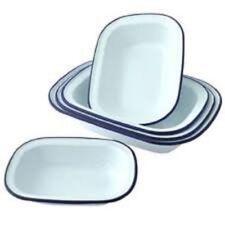 Moldes de hornear rectangulares de esmalte para tartas y bizcochos