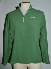 Womens Medium The North Face Green 1/4 Zip-Up Fleece Pullover Top