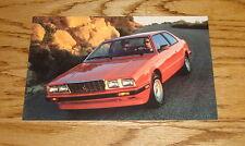 Original 1983 ? Maserati Biturbo Postcard Brochure 83 ?