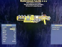 Bloodied Explosive Tesla Rifle Fallout 76 PS4