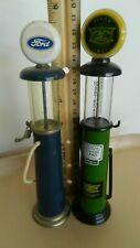 Lot of 2 Vintage Miniature Gasoline Pumps. Ford & John Deere. Rare & Cool Items!