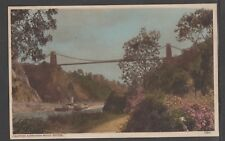 POSTCARD CLIFTON SUSPENSION BRIDGE Real Photo HARVEY BARTON & SON LTD Steamboat