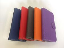 Denim Leather wallet book case pouch for Samsung Galaxy S3 with 2 card pouches