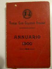 Molto raro_Touring Club Ciclistico Italiano_Annuario del 1900_Guida dell'Italia