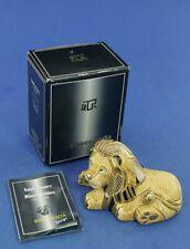 De Rosa Sculpture in Ceramic Rinconada Lion Lying No. 777 Anniversary Collection