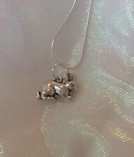 Rabbit Necklace - Charm Solid Silver Necklace With Bunny Charm