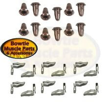 CAMARO CHEVELLE IMPALA DOOR PANEL MOUNTING CLIP CLIPS AND DOOR FRAME PLUG SET