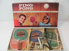 Vintage Parker Brothers Ping Pong Table Tennis Set 1960's