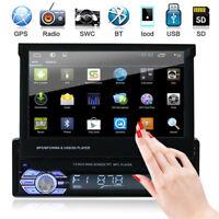 7'' HD Single 1Din Car In-Dash Stereo Radio GPS Navigation Bluetooth MP3 FM USB