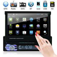 7'' HD Single 1Din Car In-Dash Stereo Radio GPS Navigation Bluetooth MP3 FM USB
