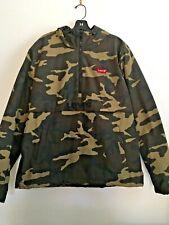SALE New Men's Levi's Designer Camouflage Half Zip Jacket With Hood Size Medium