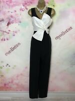Coast black/white MAXI/FULL LENGTH JUMPSUIT/DRESS Size 14 occasion/christmas