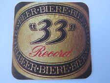 Beer Coaster: UNION DE BRASSERIES (Heineken) 33 Record Bier ~ Mons-en-Baroeul FR