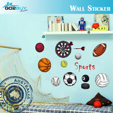 Wall Stickers Removable Sports Basketball Soccer Football Kids Room Decal DIY