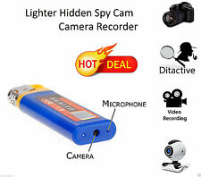 Mini DV Lighter Hidden Spy Cam Camera DVR USB Video Recorder Micro Sd Blue