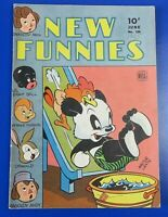 DELL NEW FUNNIES #100 GOLDEN AGE COMIC BOOK 1945 KEY ISSUE ~ FN
