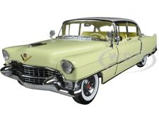 1955 CADILLAC FLEETWOOD SERIES 60 YELLOW W/ WHITE ROOF 1/18 BY GREENLIGHT 12937
