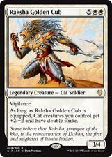 2x Raksha, Cucciolo d'Oro - Goldmane Cub MTG MAGIC C17 Commander 2017 English