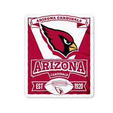 "New Northwest NFL Arizona Cardinals Soft Fleece Throw Blanket 50"" X 60"""